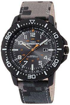 22eade1ccb34 Timex T49966 Mens Expedition Uplander Grey Camo Watch