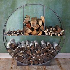 Iron Circle Log Holder in Outdoor Living Autumn Essentials at Terrain