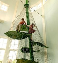A giant beanstalk for a kids playroom. // 32 Things That Belong In Your Childs Dream Room