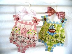 Bubble Door Hangers by BronwynHanahanArt on Etsy, $25.00