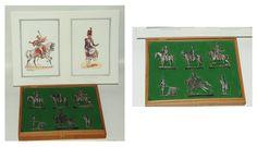 """Estuche de seis soldados """"planos de estaño"""" titulado """"Figuras del Primer Imperio - 1804 - 1810"""" editado por la Manufacture Historique de Soldats de Plomb"""