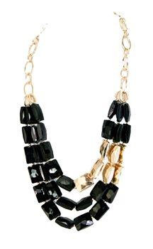 Tripple Threat Necklace in Black- $32.  www.lashclothing.com