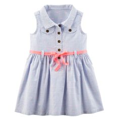 Carters Short Flutter Sleeve Floral A Line Dress Baby Girls JCPenney Kohls Dresses, Carters Dresses, Little Girl Dresses, Cute Dresses, Baby Dresses, Toddler Girl Outfits, Toddler Fashion, Kids Outfits, Kids Fashion