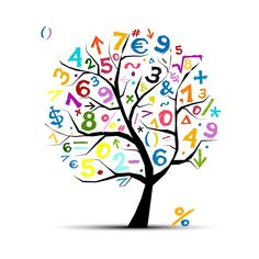 """Buy the royalty-free Stock vector """"Art tree with math symbols for your design"""" online ✓ All rights included ✓ High resolution vector file for print, web. Geometric Background, Background Patterns, Geometric Shapes, Funny Kid Drawings, Math Classroom Decorations, Preschool Classroom, Math Design, Design Art, Logo Design"""
