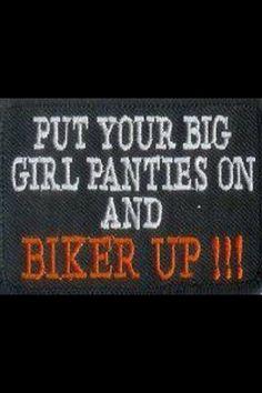 Lady riders biker up!