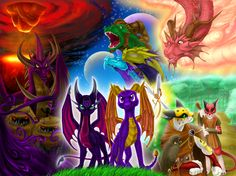 AGHH AWESOME! This is all from The Legend of Spyro: Dawn of the Dragon!