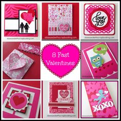 8 Close to My Heart Valentine's Cards! CTMH Cricut Cards!!