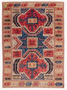Star Kazak Caucasian Rug
