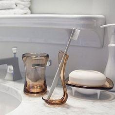 Briiith Ocean Bath Collection, Tumbler, Marsala: Amazon.co.uk: Kitchen & Home