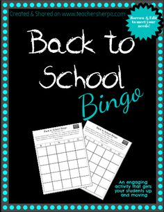Borrow & Edit to meet your needs. Back to School Bingo is a favorite among students. This bingo puts a little Mix, Pair, Share spin on it. Upon the teacher's signal, you will 'Mix', 'Pair', 'Share' to find a classmate who matches a Bingo box. Be strategic with your signatures. The first student to have 5 signatures in a row, column or diagonal will be the Back to School Bingo winner! Also included is a blank template for you to quickly create your own.