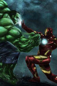 Iron Man Vs Hulk Art Wallpapers | hdqwalls.com