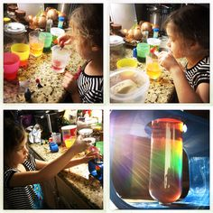 Rainbow Sugar Water experiment