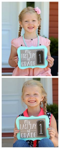 Easy Back to School Photo Prop. Use year after year for consistent photos. Free Silhouette Cut File