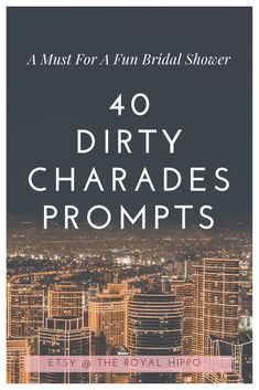 Host the ultimate naughty bridal shower with these fun and dirty charade prompts. 40 fun phrases to act or draw out. Charades Words, Charades Game, Wedding Gifts For Couples, Personalized Wedding Gifts, Party Packs, Charades For Adults, Healthy Nutrition, Healthy Drinks, Bachelorette Drinking Games