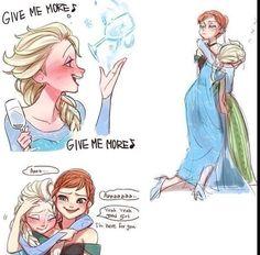 Haha omg she let it go Frozen Fan Art, Frozen Film, Disney Frozen Elsa, Disney Magic, Disney Memes, Disney Cartoons, Animation Film, Disney Animation, Disney And Dreamworks