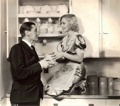 """Jean Arthur and Herbert Marshall in """"If Only She Could Cook"""", 1935"""