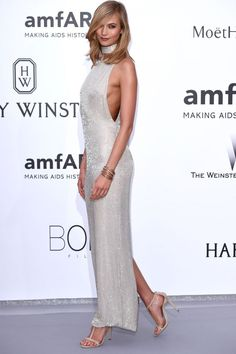 Karlie Kloss In Tom Ford At amfAR's 22nd Cinema Against AIDS Gala At Cannes Film Festival 2015