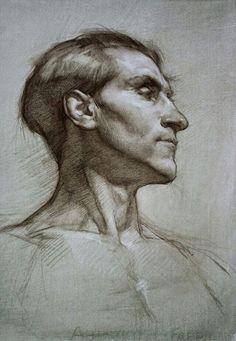 Академический рисунок. Портрет. Мягкий материал.