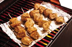 Easy Parmesan-Garlic Chicken Skewers recipe
