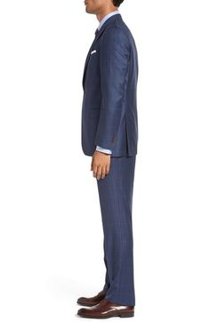 David Donahue Ryan Clic Fit Windowpane Wool Suit Nordstrom