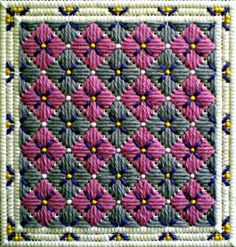 Working the Long Stitch is Fun with These 6 Easy Needlepoint Patterns