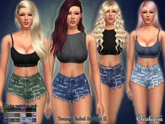 The Sims Resource: Set29- Teenage Rebel Casual Set Part 2 by Cleotopia • Sims 4 Downloads