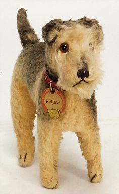"Lot:STEIFF dog ""Fellow"", with button, chest label, Lot Number:1326, Starting Bid: €140, Auctioneer:Ladenburger Spielzeugauktion GmbH, Auction:STEIFF dog ""Fellow"", with button, chest label, Date:01:00 AM PT - Feb 19th, 2016"