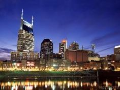 Downtown Nashville at Twilight Tennessee Places To Travel, Places To See, Places Ive Been, Travel Destinations, Portal, Nashville Tennessee, Nashville Downtown, Tennessee Waltz, Travel Pictures