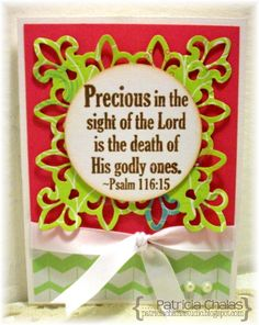 Scripture card using Inspired Stamps