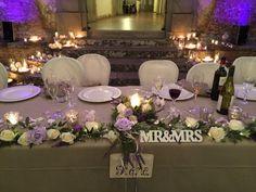 Top table flower arrangements  - Castello di Meleto