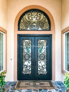 If you have a home that is in need of a new door, we have the solution! By creating a custom wrought iron door for your needs, we will give you the entrance to your home that you have always wanted! 💡 About this design: Custom Iron Door w/Transom ☎️️ 877-205-9418 🌐 www.iwantthatdoor.com Wrought Iron Doors, Entrance, Design, Home Decor, Entryway, Decoration Home, Wrought Iron Gates, Room Decor, Door Entry