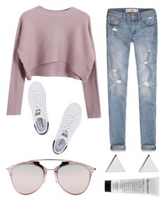 """""""on the weekend"""" by grey-eyes ❤ liked on Polyvore featuring Chicnova Fashion, Abercrombie & Fitch, adidas Originals, Jennifer Meyer Jewelry and Christian Dior"""