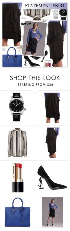 """ELIZA SKIRT - MYA ROSE 4"" by anyasdesigns ❤ liked on Polyvore featuring Christian Dior, Giambattista Valli, Dolce&Gabbana, Yves Saint Laurent, Alexander McQueen and modern"