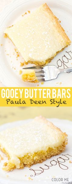 Gooey Butter Bars- 5 Ingredient recipe like Paula Deens and so easy!