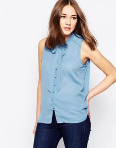 Glamorous Blouse With Pussybow Tie