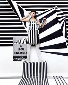 옵티컬 프린트를 입은 소년 소녀 :: Vogue Girl