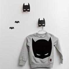 Wall Hook . Wooden Bat Mask - Black