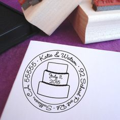 Let Them Eat Cake Wedding Personalized by purplelemondesigns, $29.00