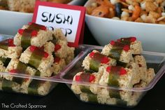 sushi for ninja party