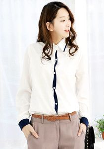 Simple Collar Shirt (2 Designs) @ $39 SGD only! (Available in: Pink, Green, White, Blue)