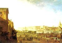 Fedor Yakovlevich Alekseev Solid-Faced Canvas Print Wall Art Print entitled The Admiralty and the Winter Palace viewed from the Military College, 1794 Most Famous Paintings, Famous Artists, Canvas Art For Sale, Canvas Art Prints, Winter Palace, Russian Painting, Urban Landscape, Traditional Art, Paris Skyline