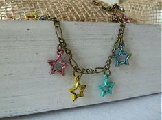 Náramok s hviezdičkami / Martinuska - SAShE. Handmade Bracelets, Arrow Necklace, Inspiration, Jewelry, Biblical Inspiration, Jewlery, Jewerly, Schmuck, Jewels
