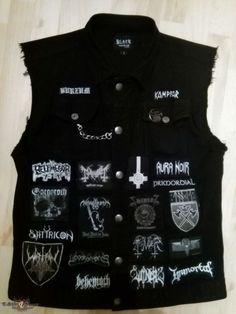 Black Metal Jacket Black metal jacket :D from Addergebroed Combat Jacket, Battle Jacket, Black Metal, Punk Patches, Pin And Patches, Metal Fashion, Punk Fashion, Death Metal, Estilo Punk Rock