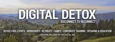 Digital Detox. volop zelfverwijzing. pagina op internet. disconnect to reconnect. inclusief een digital detox blog. erg interessant