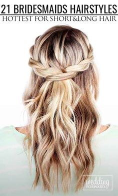 21 Hottest Bridesmaids Hairstyles For Short & Long Hair ❤ Thinking about bridesmaids wedding hairstyles for your big day? See more: http://www.weddingforward.com/hottest-bridesmaids-hairstyles-ideas/ #wedding #bride #weddinghairstyles #weddingupdos #bridesmaid