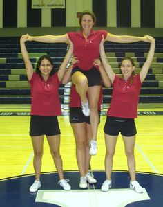 """Beginner Cheer Pyramids 