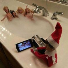 I'm pretty sure this is what elf on a shelf actually does