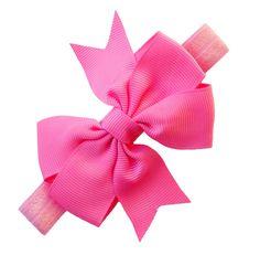 Haarbandje met strik roze www.stijlicoontjes.nl
