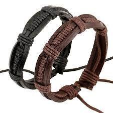 Resultado de imagen para como hacer pulseras de cuero para hombres