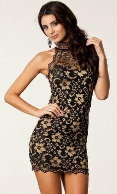 Gorgeous Black And Gold Lace Sleeveless .. Vintage Dresses OnlineClub DressesSummer  DressesStrapless DressBodycon ... ebfd9ba2f8a3